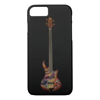 Capa iPhone 8/ 7 Guitarra baixa de Fretless (arco-íris)