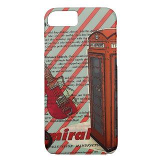 Capa iPhone 8/ 7 Guitarra elétrica do rolo vermelho da rocha n da