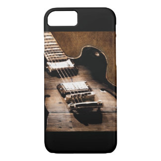 Capa iPhone 8/ 7 Guitarra ocidental de madeira da música country do