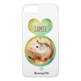 Capa iPhone 8/ 7 Hammyville - coração bonito do hamster