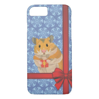 Capa iPhone 8/ 7 Hamster do Natal dos flocos de neve