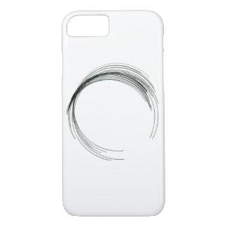 Capa iPhone 8/ 7 handma branco preto geométrico redondo do círculo