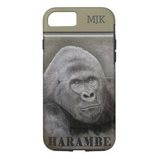 Capa iPhone 8/ 7 Harambe (desenho da grafite)