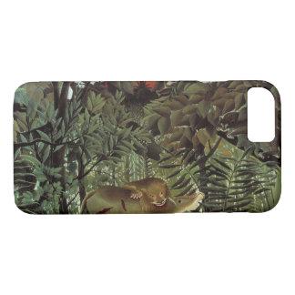 Capa iPhone 8/ 7 Henri Rousseau - o ataque com fome do leão