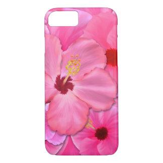 Capa iPhone 8/ 7 Hibiscus cor-de-rosa