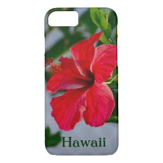 Capa iPhone 8/ 7 Hibiscus do vermelho de Havaí