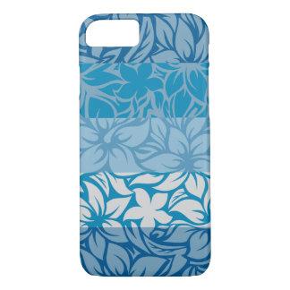 Capa iPhone 8/ 7 Hibiscus listrado havaiano da baía de Moloaa