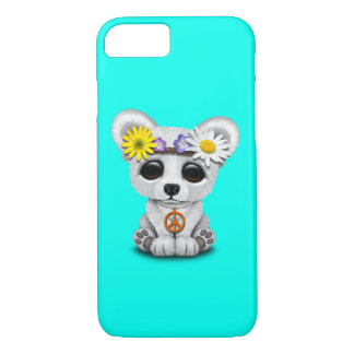 Capa iPhone 8/ 7 Hippie bonito de Cub de urso polar do bebê