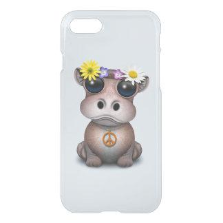Capa iPhone 8/7 Hippie bonito do hipopótamo do bebê