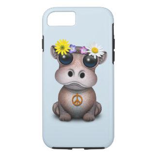 Capa iPhone 8/ 7 Hippie bonito do hipopótamo do bebê