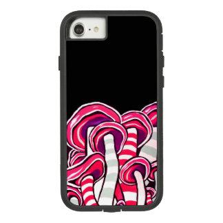 Capa iPhone 8/ 7 Hippie psicadélico Trippy roxo dos cogumelos