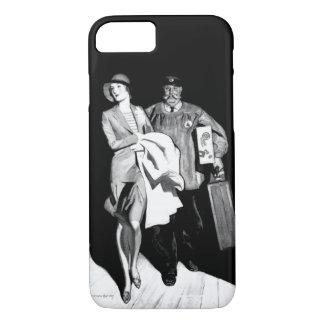 Capa iPhone 8/ 7 Homem da bagagem da mala de viagem do Bellhop da