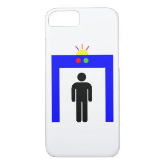 Capa iPhone 8/ 7 homem da vara do alarme da segurança do detector