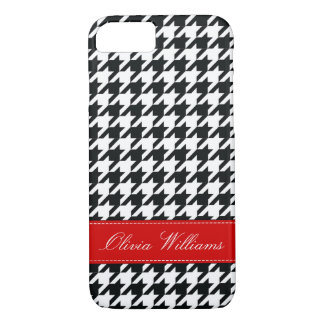 Capa iPhone 8/ 7 Houndstooth à moda