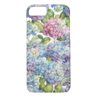 Capa iPhone 8/ 7 Hydrangeas na flor
