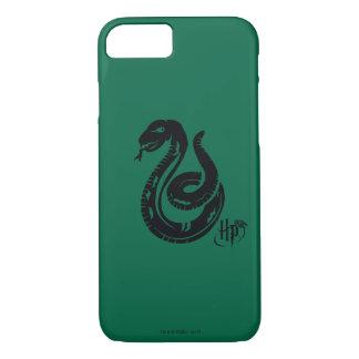 Capa iPhone 8/ 7 Ícone do cobra de Harry Potter   Slytherin