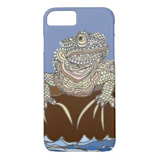 Capa iPhone 8/ 7 Iguana marinha na rocha com caranguejo de eremita