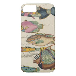 Capa iPhone 8/ 7 Ilustração antiga dos peixes