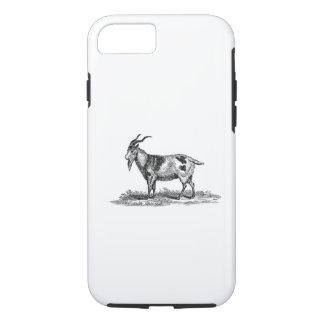 Capa iPhone 8/ 7 Ilustração da cabra doméstica do vintage - cabras