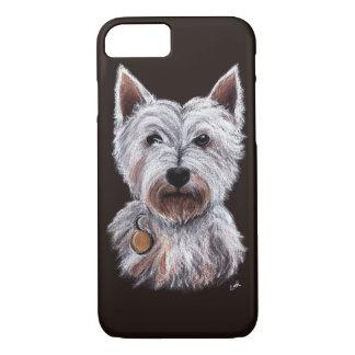Capa iPhone 8/ 7 Ilustração Pastel do animal de estimação do cão