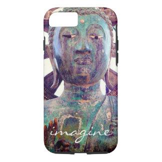 """Capa iPhone 8/ 7 """"Imagine"""" a foto asiática da cabeça da estátua de"""
