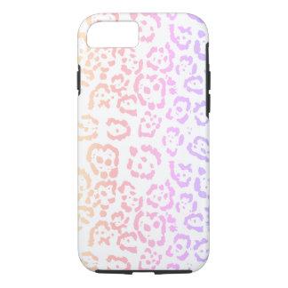 Capa iPhone 8/ 7 Impressão animal do arco-íris Pastel do leopardo