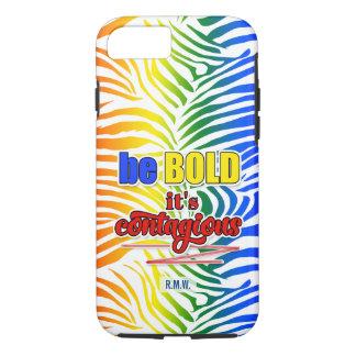 Capa iPhone 8/ 7 Impressão brilhante e corajoso da zebra do