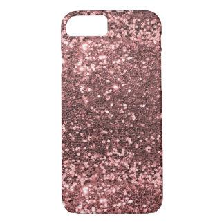Capa iPhone 8/ 7 Impressão cor-de-rosa do brilho da faísca do