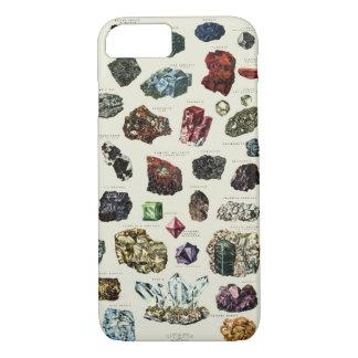 Capa iPhone 8/ 7 Impressão de cristal de minerais das gemas de