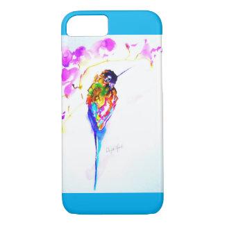 """Capa iPhone 8/ 7 """"Impressão do colibri da vara violeta"""""""