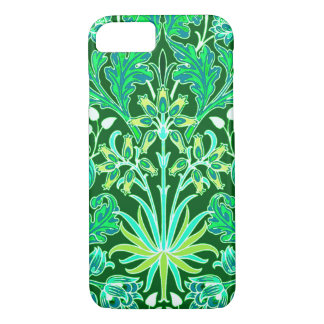Capa iPhone 8/ 7 Impressão do jacinto de William Morris, verde