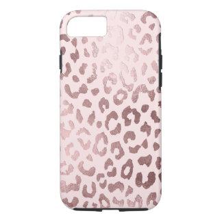 Capa iPhone 8/ 7 Impressão do leopardo de PixDezines/ouro