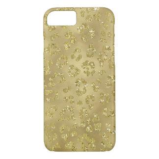 Capa iPhone 8/ 7 Impressão do leopardo do ouro