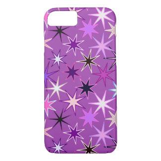 Capa iPhone 8/ 7 Impressão moderno de Starburst, roxo violeta e