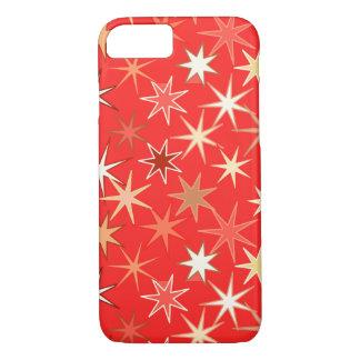 Capa iPhone 8/ 7 Impressão moderno de Starburst, tanjerina profunda