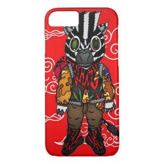 Capa iPhone 8/ 7 Impulso vermelho da zebra de Yeezy