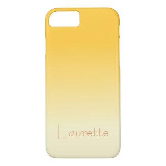 Capa iPhone 8/ 7 Inclinação alaranjado e de creme pálido simples