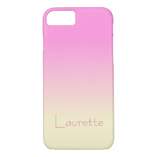 Capa iPhone 8/ 7 Inclinação cor-de-rosa e de creme dos doces