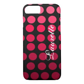 Capa iPhone 8/ 7 Inclinação cor-de-rosa e preto personalizado das