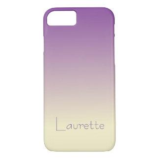 Capa iPhone 8/ 7 Inclinação roxo e de creme simples customizável