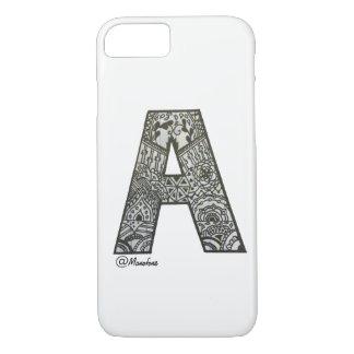Capa iPhone 8/ 7 Iphone 7/8 de embalagem com design do alfabeto