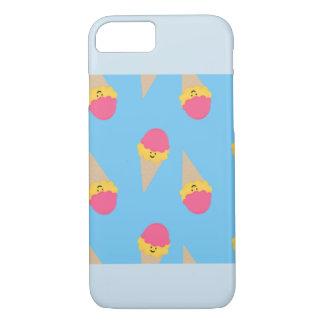 Capa iPhone 8/ 7 Iphone 7/8 mal lá de caso, sorvete, azul