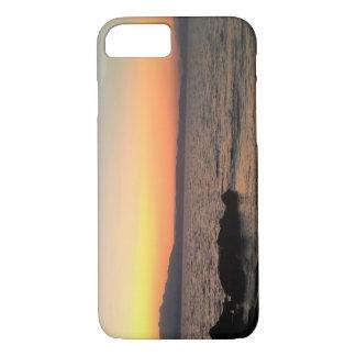 Capa iPhone 8/ 7 iPhone 7 de Apple do mar do por do sol, mal lá