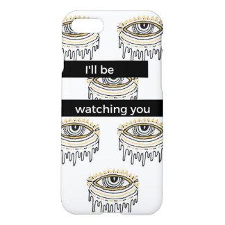 """Capa iPhone 8/7 Iphone 7"""" eu estarei olhando-o"""" encaixotar"""
