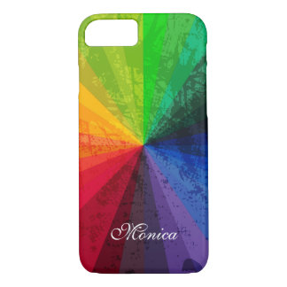 Capa iPhone 8/ 7 iPhone 7 listras do arco-íris do caso    