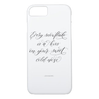 Capa iPhone 8/ 7 iPhone 7 ou da caligrafia do inverno caso 8