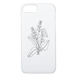 Capa iPhone 8/ 7 Iphone 8/7 de cobrir com a flor