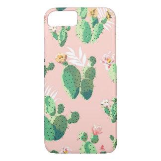 Capa iPhone 8/ 7 iPhone 8/7 de exemplo cor-de-rosa do Succulent do