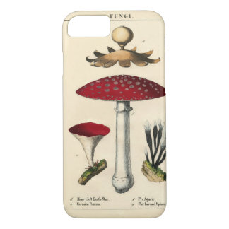 Capa iPhone 8/ 7 iPhone botânico do impressão do cogumelo do