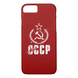 Capa iPhone 8/ 7 iPhone branco 8/7 da foice comunista do martelo de